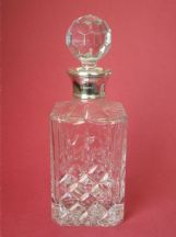 Classic Cut Whisky decanter with Sterling Silver collar
